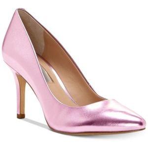 INC Zitah Metallic Purple Pointed Toe Pumps Heels